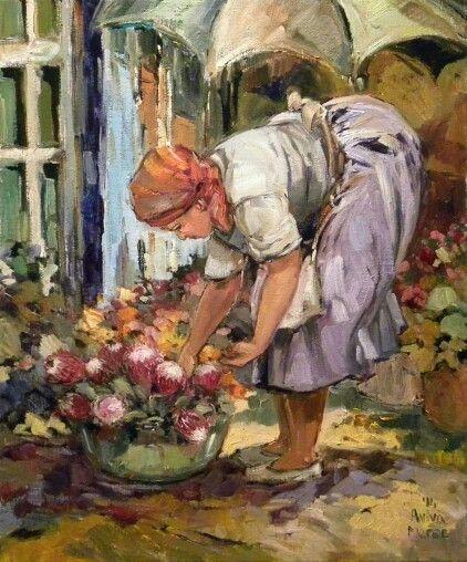 Katrien kies n blom   Aviva Maree Art