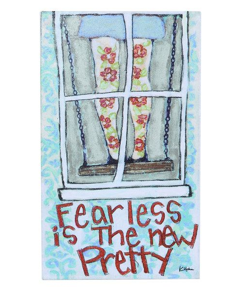 Fearless Is The New Pretty Wall Plaque Wall Plaques