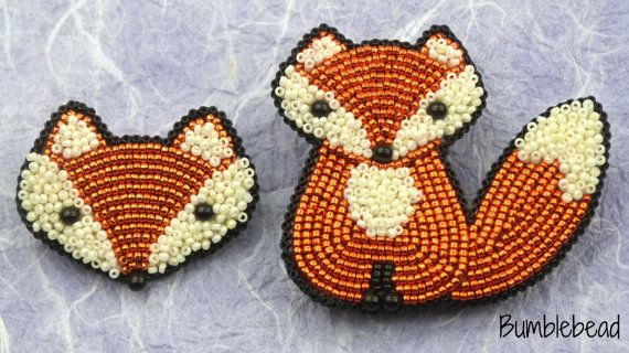 Little Fox Brooch Tutorial A Bead Embroidery by BumblebeadCrafts