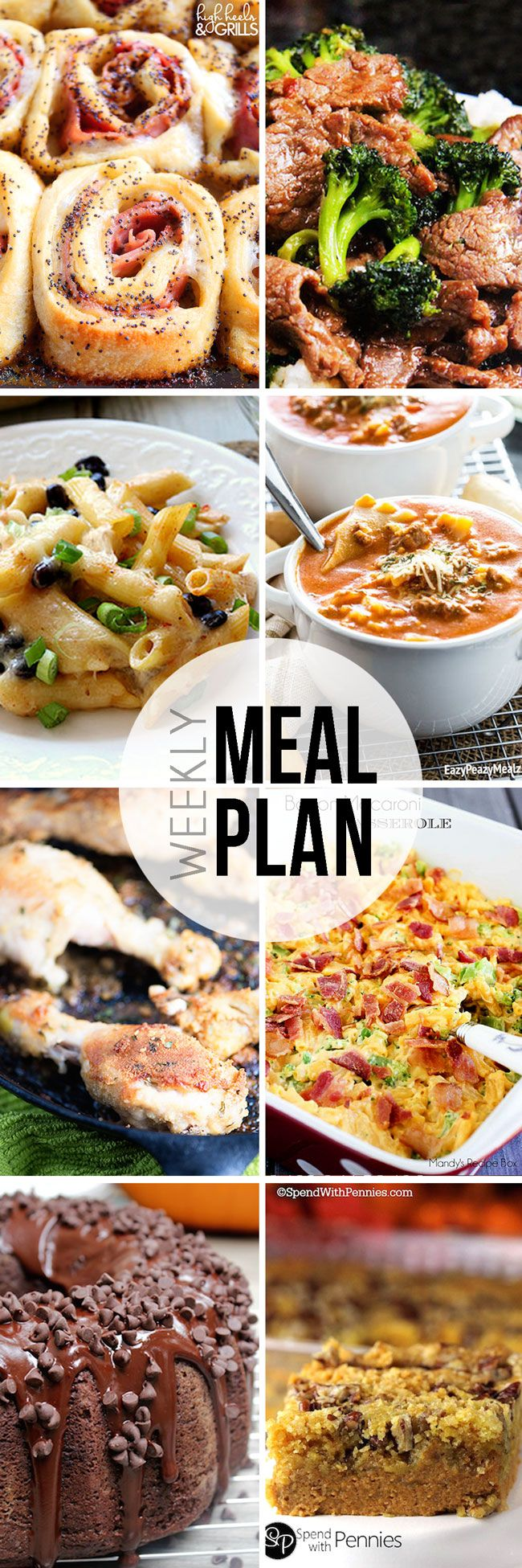Easy Meal Plan Sunday #16 - Here are six fantastic main dishes and two delicious dessert recipes that your family will love.