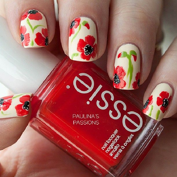 Black Poppy Nail Polish: 68 Best Images About Water Marble Nail Designs On