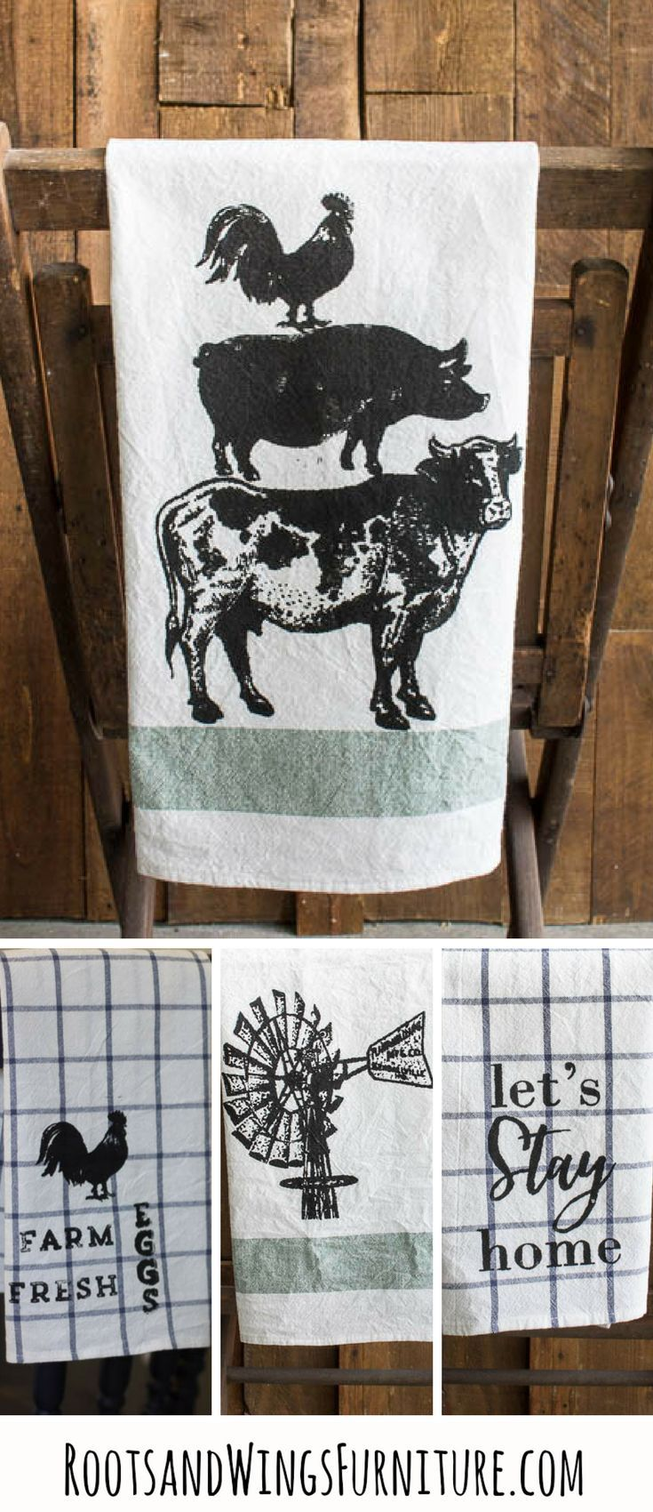 Diy Farmhouse Kitchen Towels With Images Printed Tea Towel