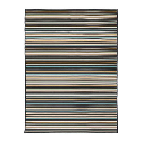IKEA KÄRBÄK Rug flatwoven, in/outdoor Multicolour 170x240 cm The rug has the same pattern on both sides, so you can turn it over and it will withstand...