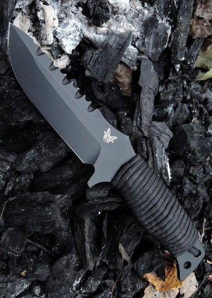 Benchmade Knife 375BKSN Sibert Adamas Black Blade Military Tactical Fixed Knife Blade