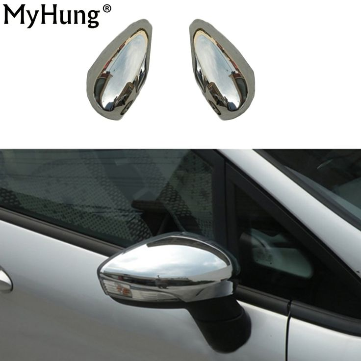 Side Mirror Cover rearview Mirror cover Bar Decoration Electroplating for FORD FIESTA 2009 2010 2011 2012 2pcs per set #Affiliate