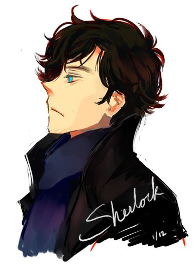 Gorgeous Sherlock fanart <<< oh my gosh I wish I could sketch like this...
