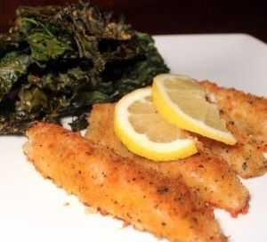 Panko Crusted Lake Perch with Parmesan Kale Chips - Johnny Prep - The Soup Guy - Recipes, Videos, Classes