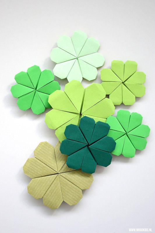 origami klavertje4