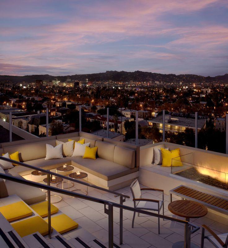 Los Angeles D 233 Tour Au Kimpton Wilshire Hotel Terrasse