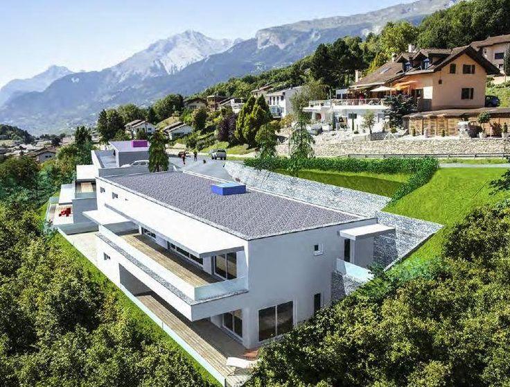 Appart. neufs à Savièse promotion Les Terrasse ... : Promotion de 4 immeubles de 4 appartements Savièse. La commune de Savièse centre du canton du Valais, sur la rive droite du Rhône. L'ensoleillement est au maximum toute l'année.  Délimitée géograp...