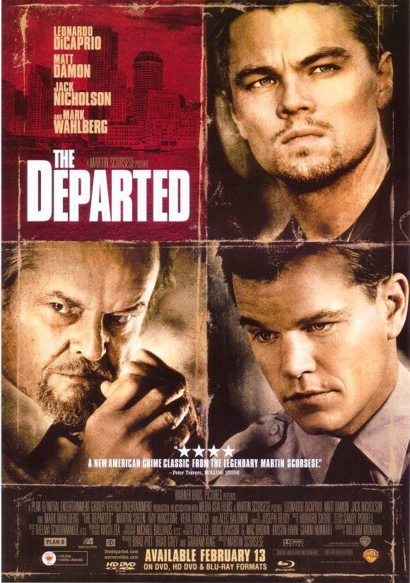 The Departed Movie Poster 27x40 Used Jack Nicholson Matt Damon Leonardo DiCaprio Alec Baldwin Martin Sheen Mark Wahlberg