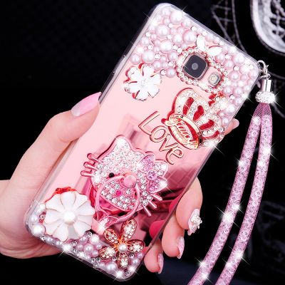 >> Click to Buy << Luxury Girl Woman Lady Handmade Art Diamond Mirror Bling Phone Cover Case for Huawei Honor 7 8 6X 4X V9 5X 4A Gold Silver Pink  #Affiliate