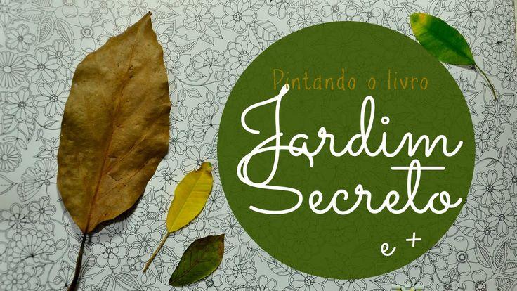 flor azul jardim secreto : flor azul jardim secreto:Jardim Secreto – Secret Garden – Folhas com lápis de cor