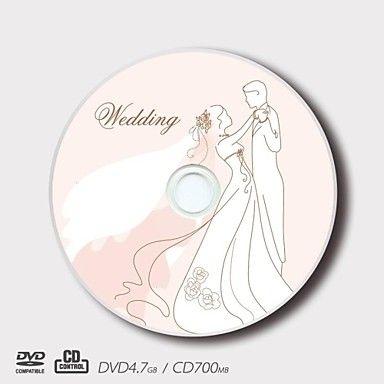 gepersonaliseerde cd-r / dvd-r scheppende liefde bruiloft patroon magische gift (set van 5) - EUR € 14.39