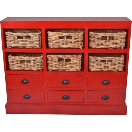 Nantucket Cabinet in Red