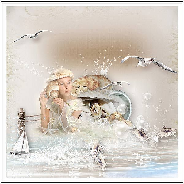"""kit """"Sea Voices"""" by Sekada Designs  http://store.scrapgirls.com/Sea-Voices-Collection.html Photo byphotosight"""