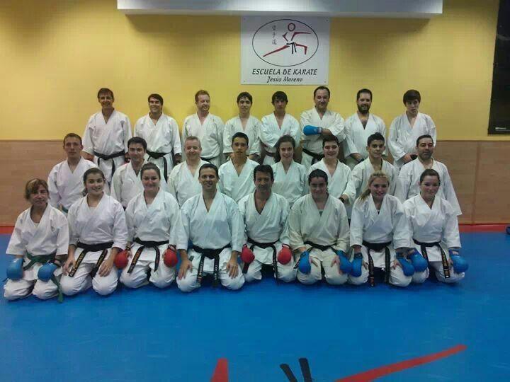 Rubén con toda su clase de karate