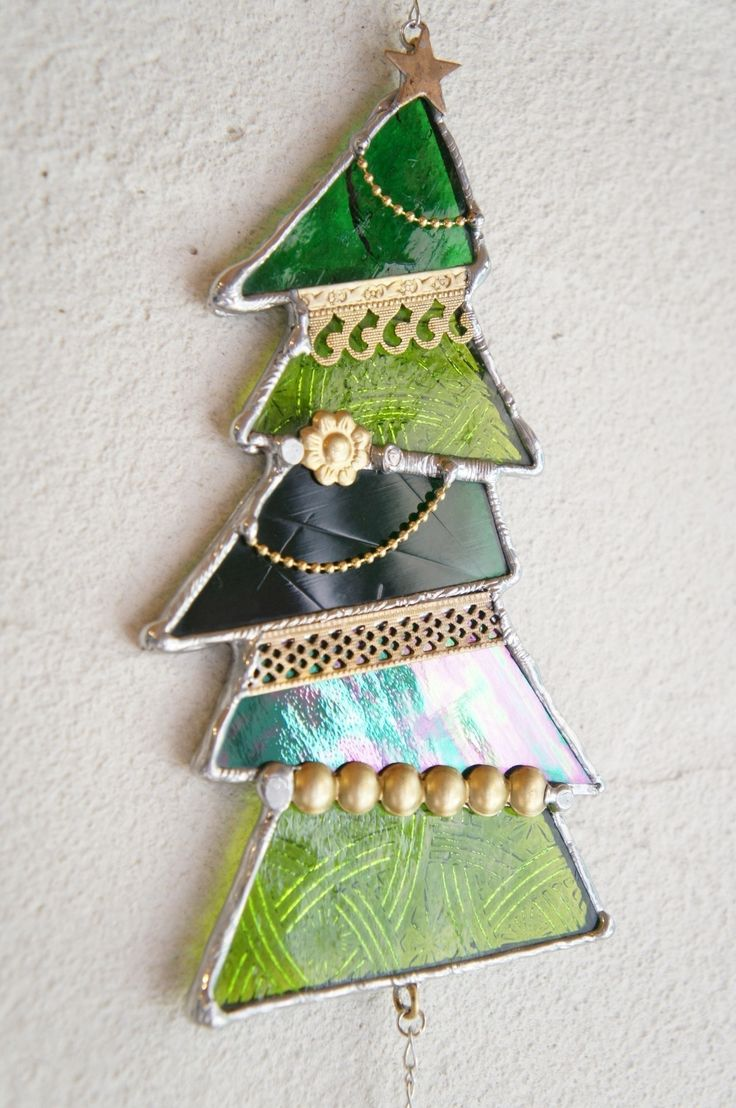 155 best Stained glass: Christmas trees images on Pinterest ...