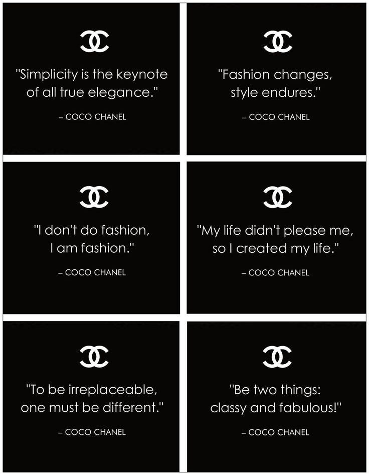 Famous quotes from Coco #Chanel.