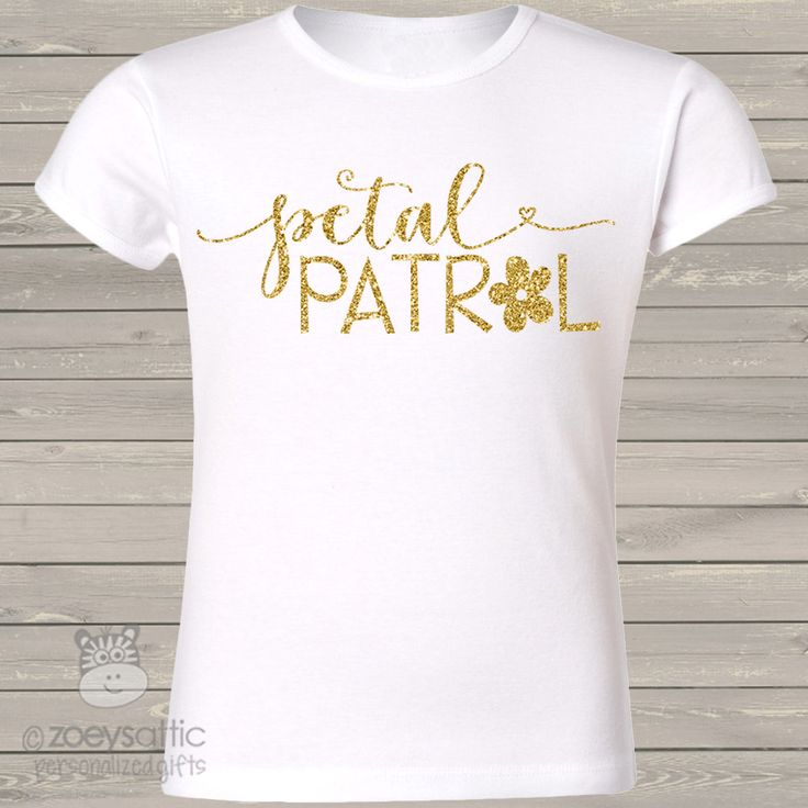 Flower girl glitter boutique shirt, petal patrol custom girls cut shirt