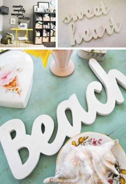 la casita de papel diy hacer letras decorativas muy fciles