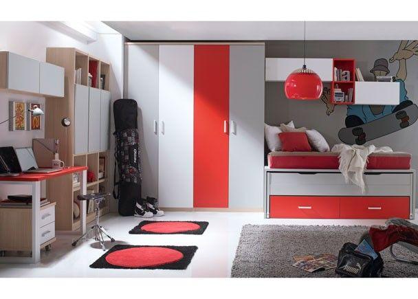 Mejores 93 im genes de mobiliario juvenil tonos rojos en for Mobiliario habitacion juvenil