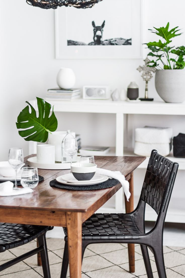 619 best kitchens dining rooms images on pinterest kitchen black and white scandinavian dining room