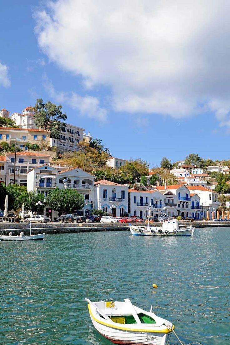 Evdilos village, Ikaria island, Greece