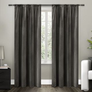 ATI Home Cotton Velvet Blackout Lined Curtain 84 - 96-inch Length Panel - 18644119 - Overstock - Great Deals on ATI Home Curtains - Mobile