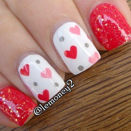 Best Valentine's Day Nails - 48 Valentine's Day Nail Designs - Fav Nail Art #nailart