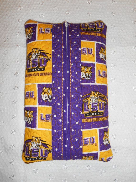 LSU Wet Wipe Case or Diaper Wipe Case For Your Home by myrelfrance, $22.50
