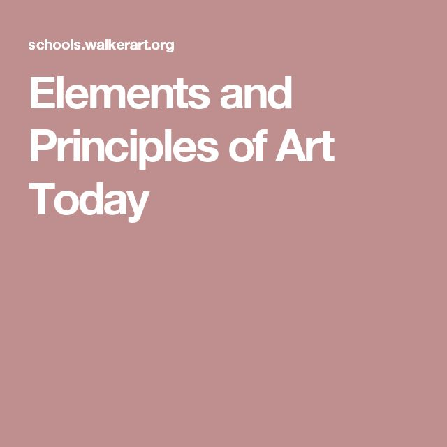 Elements Of Art And Examples : Ideas about elements and principles on pinterest