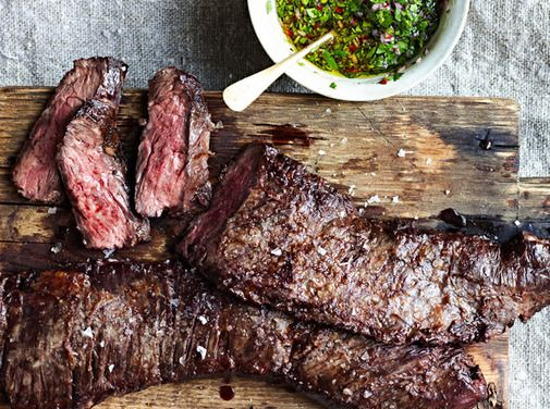 Skirt Steak with Chimichurri Sauce recipe from Food52