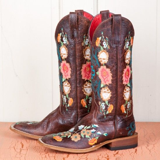 Anderson Bean Ladies' Sweet Sixteen Square Toe Boots