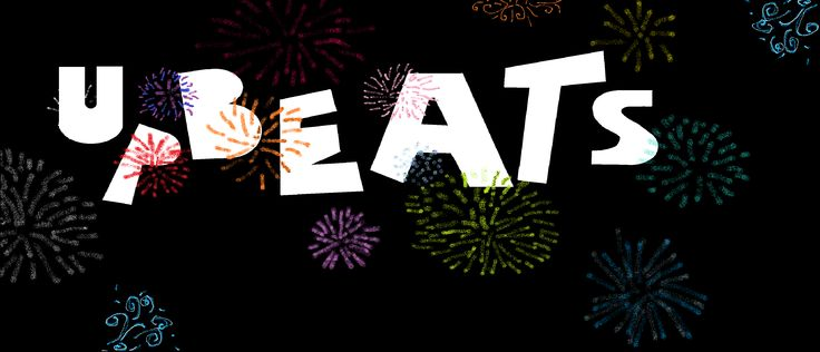 The Upbeat logo (with fireworks.) My little sister actually designed this.