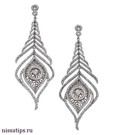 Join nissatips.ru to buy it. Хочу/могу рубрика в моем блоге и помощь в покупке! Серебряные серьги перья с бриллиантами!