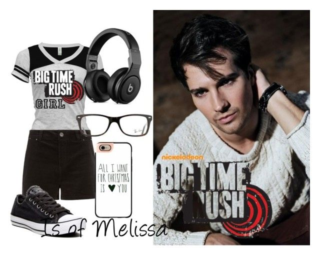"""Big Time Rush"" by mloperamarin on Polyvore featuring Belleza, Converse, Casetify y Ray-Ban"