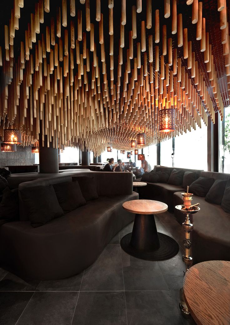 Ausziehbett Design Parametric And Oriental Meet Together In Hookah Bar By