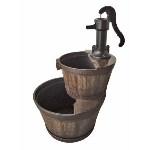 Southern Patio 2tier Whiskey Barrel Fountain By Southern