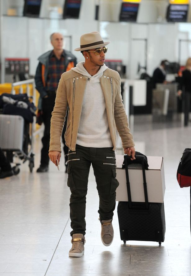 Got enough zips? Lewis Hamilton jets out of London in style after ...