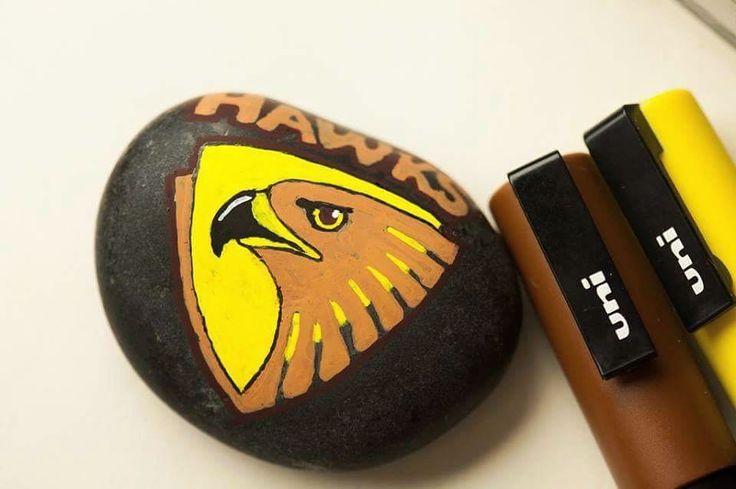 Created for an 11yo fan of the Hawthorn Football club.