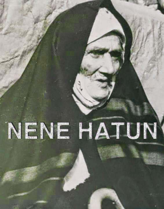 Nene Hatun 1857 yılında Erzurum Pasinler ilçesine bağlı çeperler köyünde doğmuştur. Kurtuluş savaşı sırasında Erzurum'da bulunan Nene hatun buradaki Aziziye tabyasının savunulması için küçük yaşlarındaki oğlunu ayrıca 3 aylık kızını evde bırakarak vatan mücadelesi için çalışmıştır. Hem de bunu yaptığında 20 yaşlarındaydı.