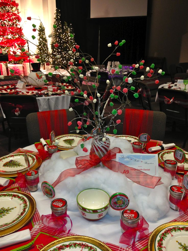 Gumdrop Village PDBC Womens Dinner Tables Pinterest