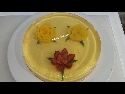 Como hacer una Flor con Duraznos enlatados - YouTube