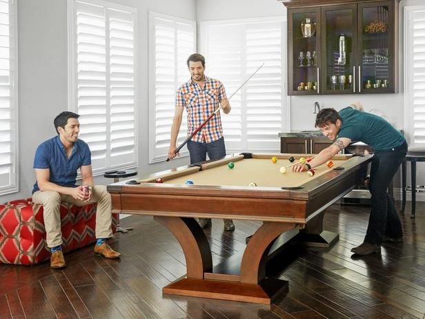 property brothers house pool. the scott brothers playing pool property house