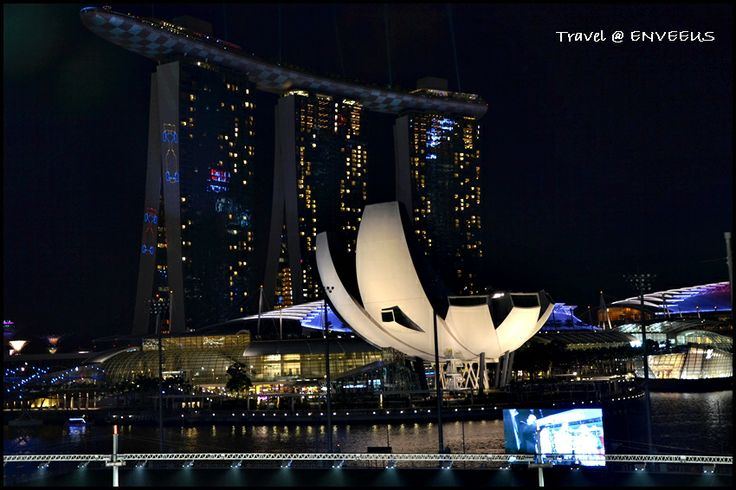 Marina Bay Sands & The Shoppes, Singapore.  View from Bay Grandstand.