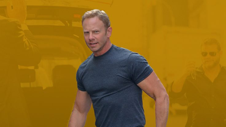 Ian Ziering's Gym Bag Is Comically Large