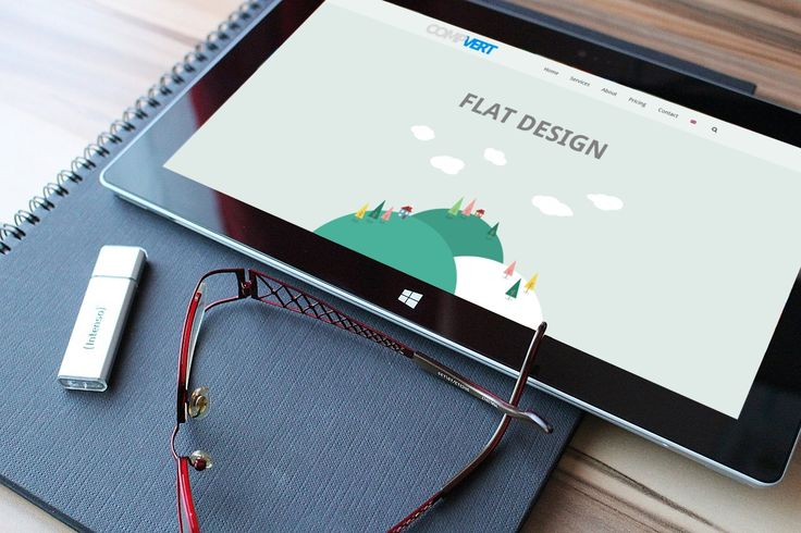 Flat design has become quite popular over the last years and it appears to stay popular in the upcoming years.  #flatdesign   #compvert   #webdesign   #websites