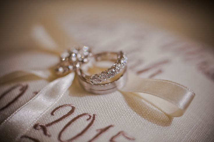 A beautiful picture of the wedding rings