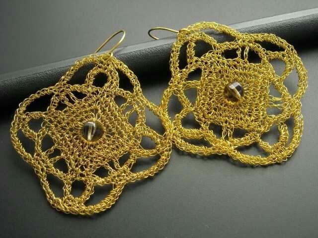 Wire crochet - earrings